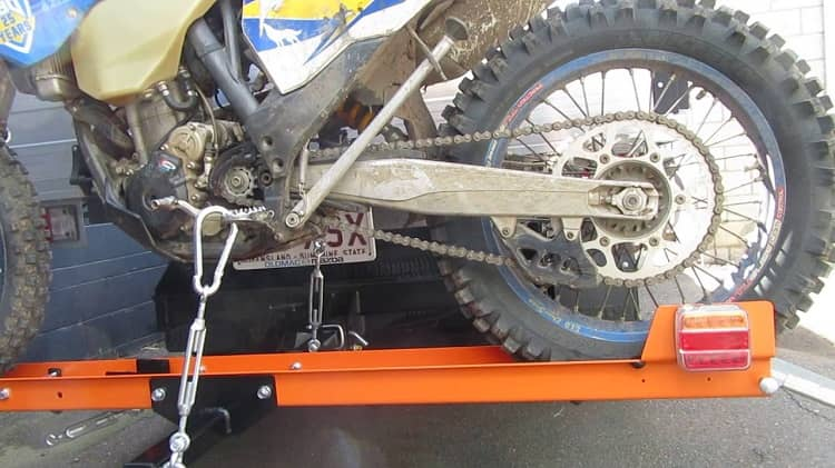 How to Tie Down Dirt Bike on Hitch Carrier