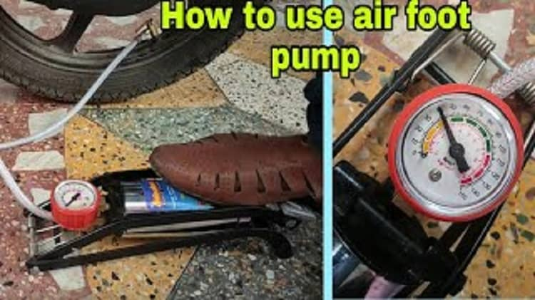 How to Use a Foot Pump
