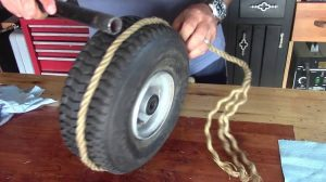 Just Getting started a Tubeless Wheelbarrow Tire